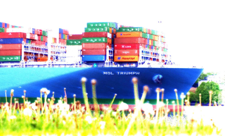 MOL Triumph - Hafen Hamburg - Pam Lauren Art